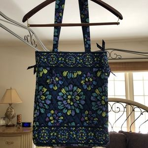 Vera Bradley travel laptop tote - indigo pop blue